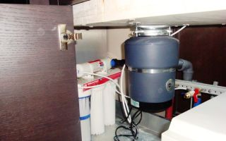 Измельчитель пищевых отходов для раковины на кухне, монтаж