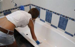 Покраска ванн эмалью своими руками — процесс работ и подробная инструкция