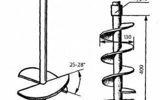 Как сделать буры для скважин своими руками, чертежи и пошаговая инструкция