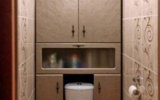 Сантехнические шкафы в туалете: дверцы, дизайн и советы по выбору