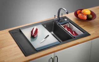 Кухонная врезная мойка в столешницу : схема установки и принцип работы