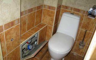 Как в туалете спрятать трубу своими руками — обзор
