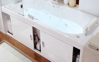 Экраны под ванну: особенности выбора модели по размеру, конфигурации и материалу, сборка и установка