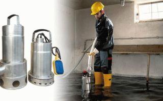 Как выбрать дренажный насос для откачивания чистой и грязной воды — обзор
