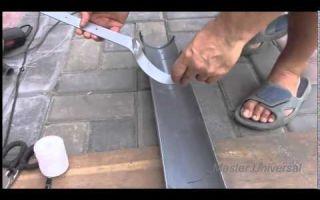 Как сделать водосток своими руками из канализационной трубы
