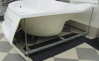 Описание процесса установки акриловой ванны своими руками, полезные советы