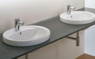 Особенности монтажа встроенной раковины в столешницу в своей ванной — способы установки и конструкции