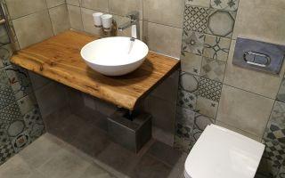 Столешницы для ванной комнаты с фото — материалы изготовления