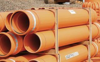 Труба канализационная рыжая из пвх, диаметром в 160 мм — установка и монтаж