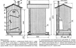 Что нужно, чтобы сделать своими руками туалет на даче: чертежи и размеры двух основных частей, фото